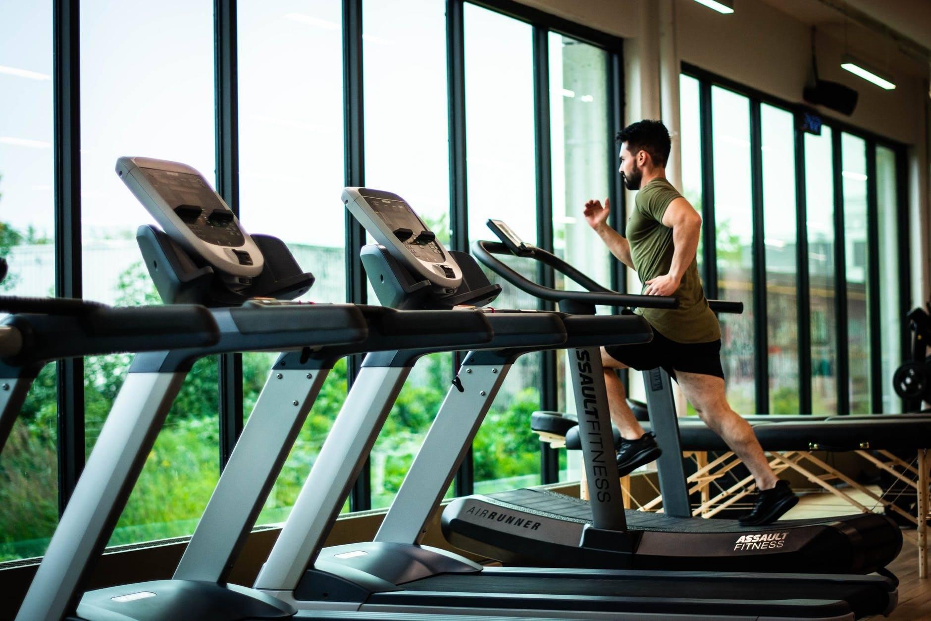 an on treadmill